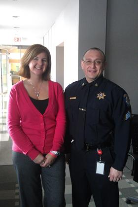 With Sgt. Armando Sanders of the Montgomery, Illinois Police Department - February 2012